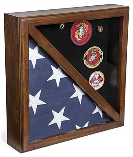 Rear Loading 2-Flag Display Case