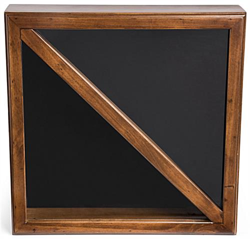 Solid Pine 2-Flag Display Case