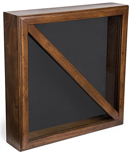 2-Flag Display Case with Black Felt Backing
