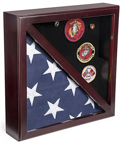 Dual Flag Commemorative Military Frame with Rear Loading Design