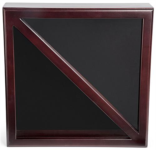 Dual Flag Commemorative Military Frame with Black Felt Backing
