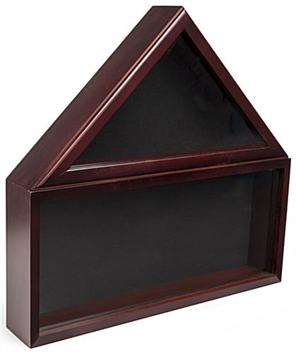 Flag and Memorabilia Commemorative Display Case with Black Felt Backing