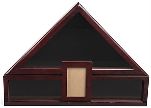 Solid Pine Flag Shadow Box with Picture Frame