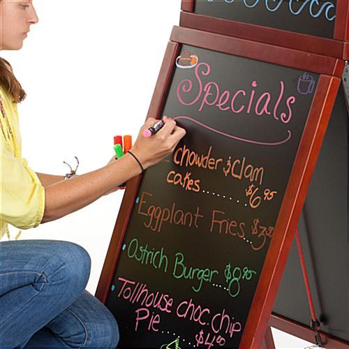 A Frame Chalkboard Removable Header