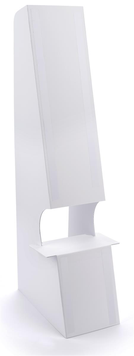 Double wing cardboard floor easel with double sided mounted tape included