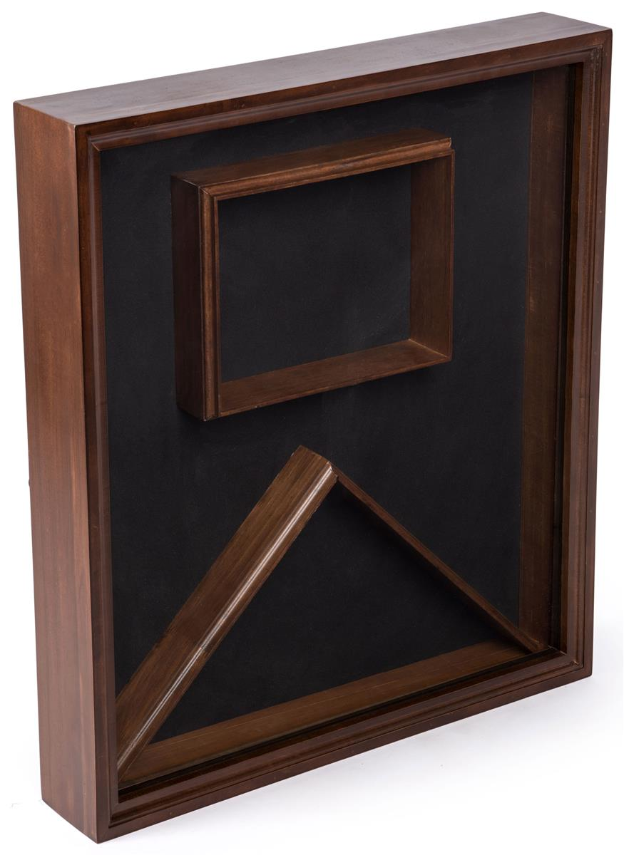 Flag Display Case With Gl Front And Certificate Holder Velvet Backing Cherry