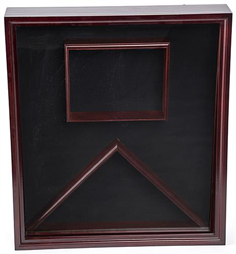Certificate Shadow Box for Flag with Solid Pine Contstruction