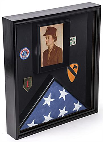 Flag and Document Case with Title 4 Banner Slot