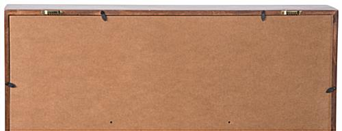 Certificate Flag Case with Wall-Mounting Brackets