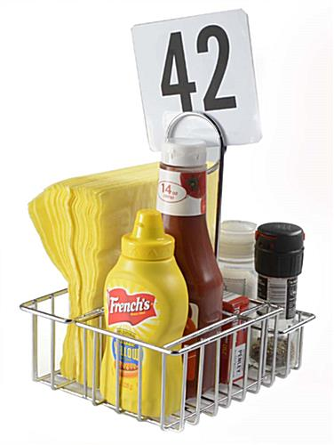 Wire Condiment Rack Restaurant Caddies For Ketchup Amp Mustard