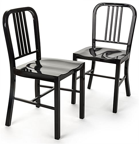 Gentil Black Metal Café Chair In Sleek Black ...