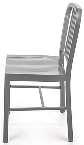 Silver Dining Side Chair with Molded Seat