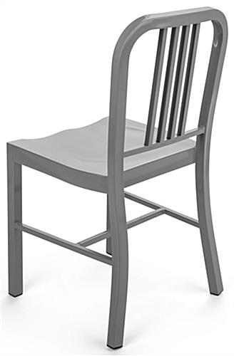 Silver Dining Side Chair with High Back