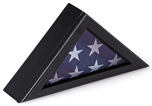 Veteran Flag Display Frame with Clear Glass Front