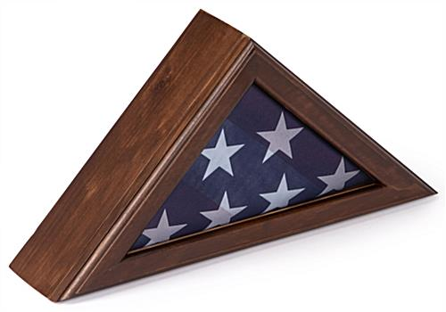 American Flag Frame with Cherry Finish