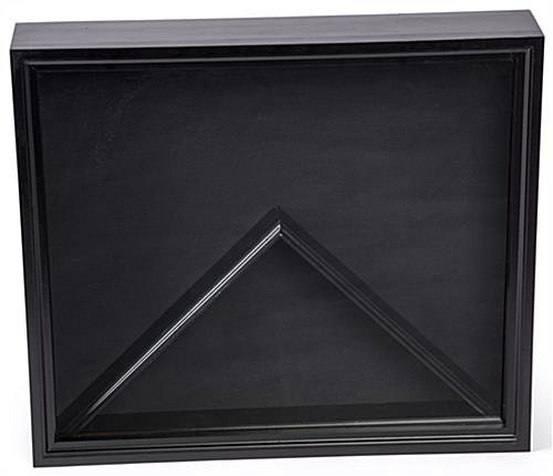 Flag Shadow Box Black Display Case with Black Finish