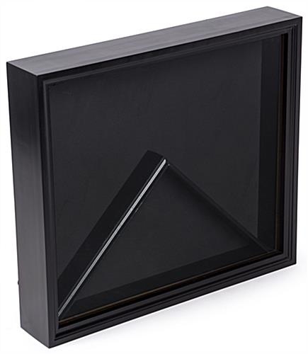 Flag Shadow Box Black Display Case with Glass Front