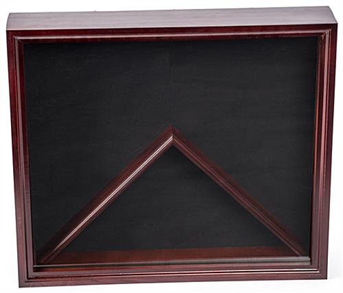 Flag and Medal Display Case with Velvet Fabric Backer