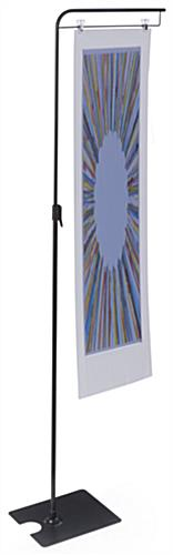 Telescoping Sign Clip Floorstand for Retail