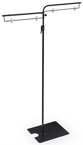 Dual Sign Clip Floorstand for Retail at Lowest Height