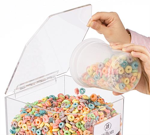 clear cereal dispenser