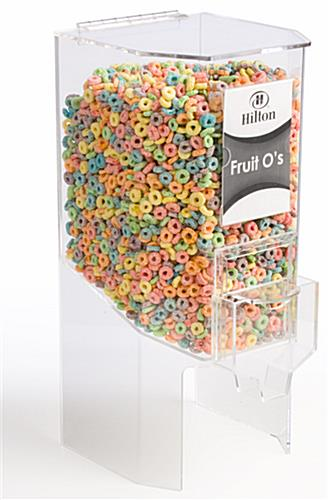 3.5 gallon clear cereal dispenser
