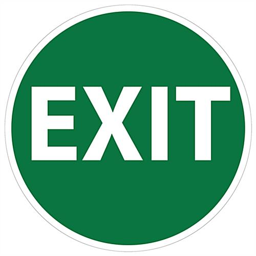 Pre-printed safety floor exit sign