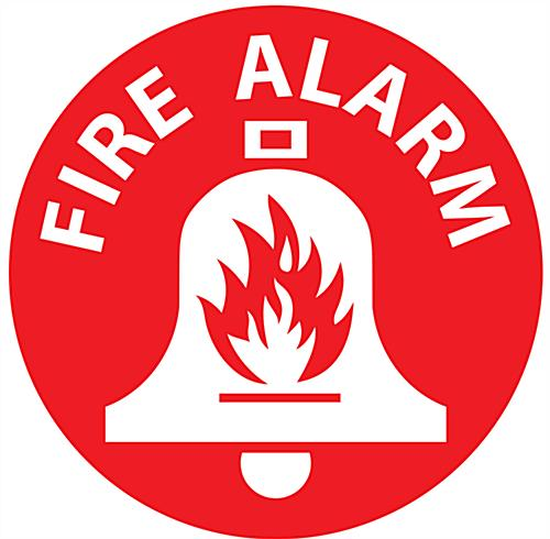 "12"" x 12"" fire alarm floor safety sign"