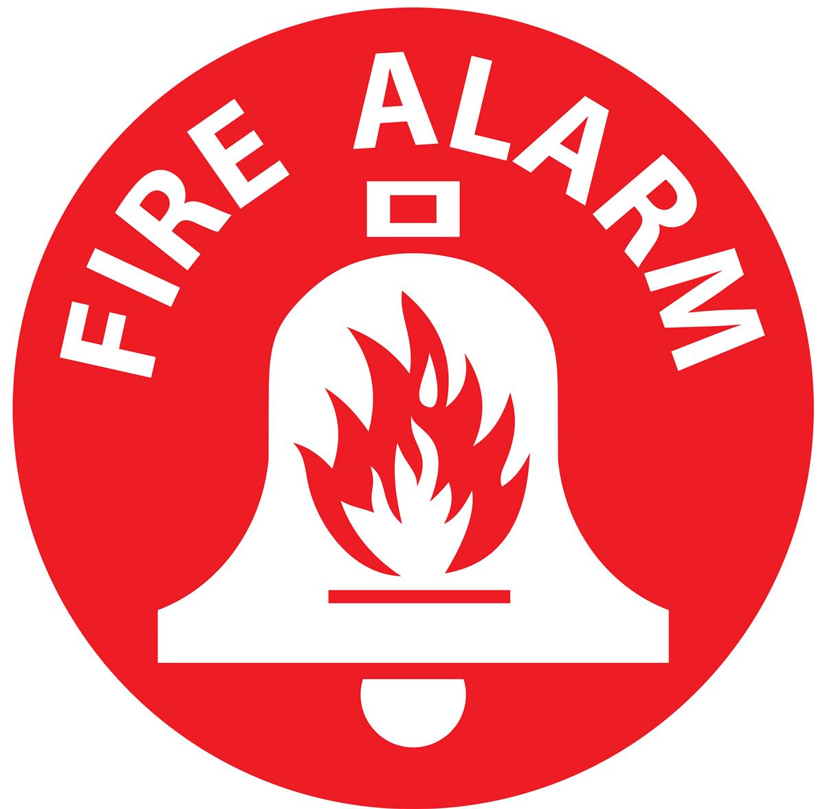 Fire Alarm Floor Safety Sign 12 X 12 Circular Decal