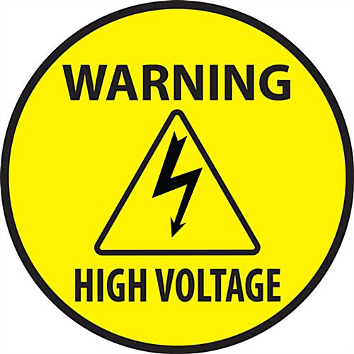 "12"" x 12"" high voltage warning safety decal"