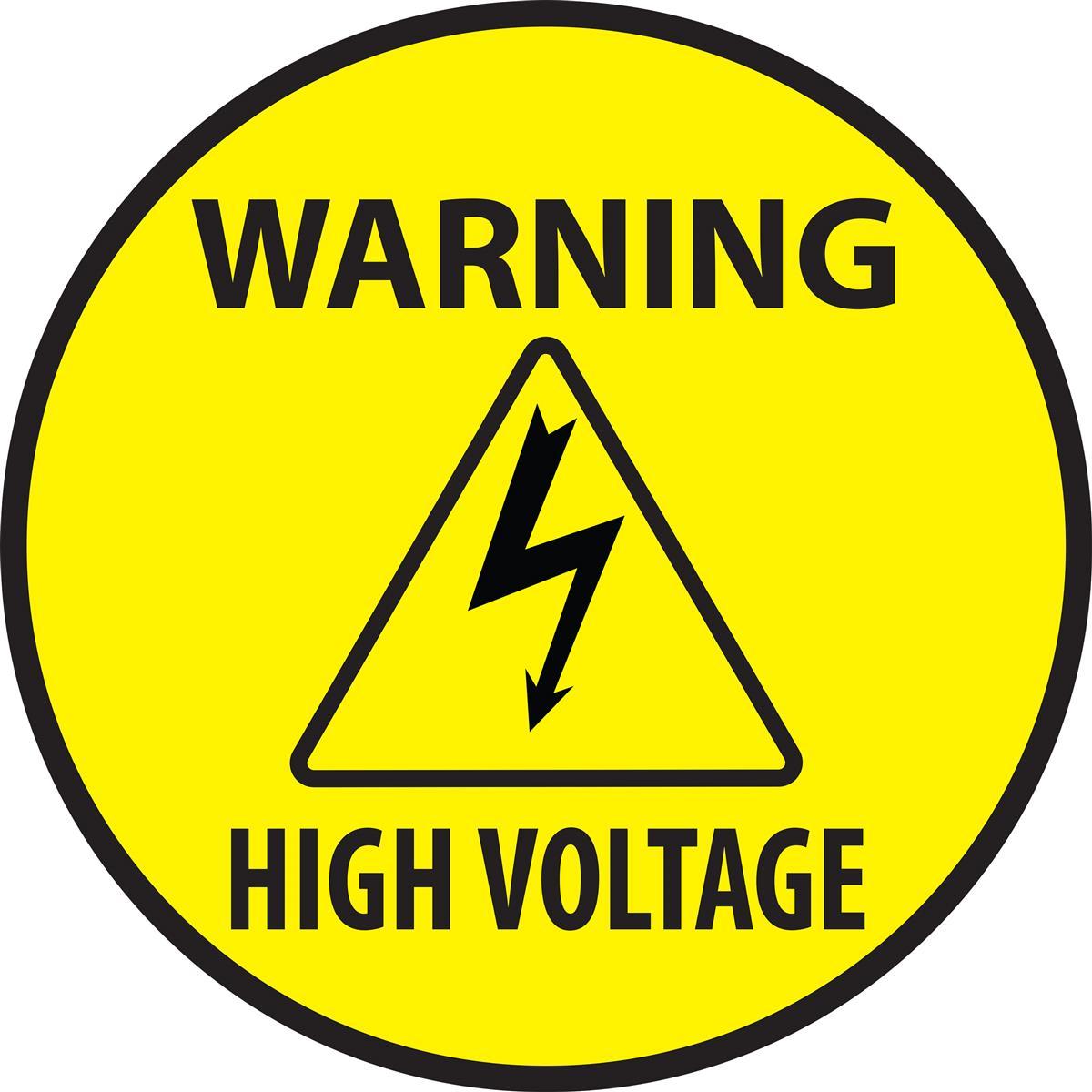 high voltage warning safety decal pre printed vinyl signage. Black Bedroom Furniture Sets. Home Design Ideas