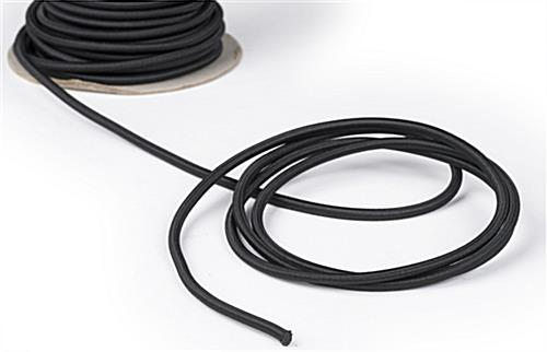 Uncoiled Cord of the 6-Stanchion Black Low Profile Barrier System