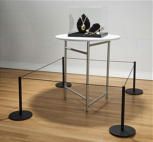Museum Display using 8-Barrier Black Low Profile Stanchion System