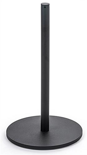1 Pole of the 8-Barrier Black Low Profile Stanchion System