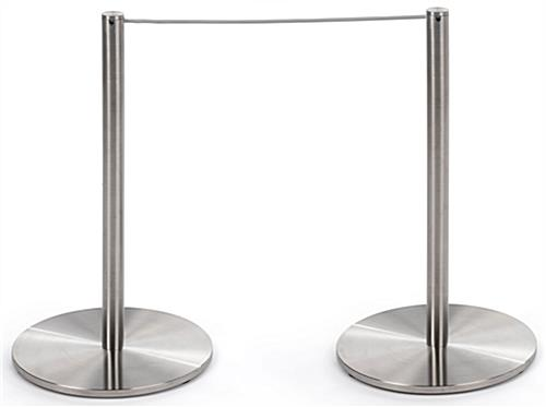 2 Connected of the 6-Stanchion Silver Low Profile Barrier Set