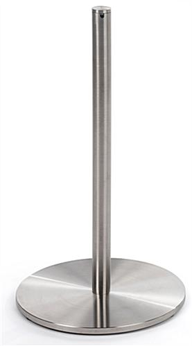 Single Post of the 6-Stanchion Silver Low Profile Barrier Set