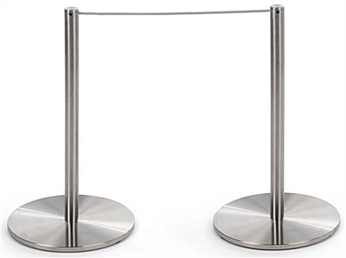 2-Post Section of the 8-Barrier Silver Low Profile Stanchion Set