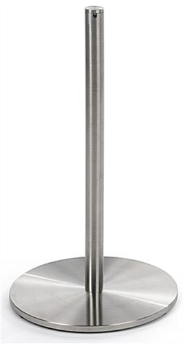 1 of the 4-Post Silver Low Profile Stanchion Barrier