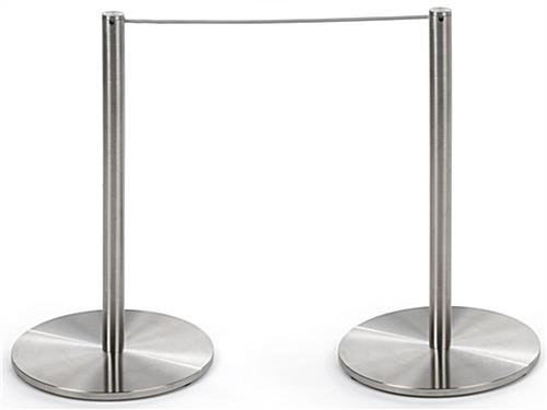 2-Pole Section of the 4-Post Silver Low Profile Stanchion Barrier