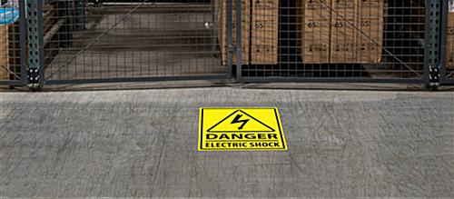 "18"" x 24"" electric danger safety floor marker sign"