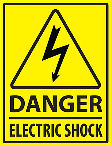 Rectangular electric danger safety floor marker sign