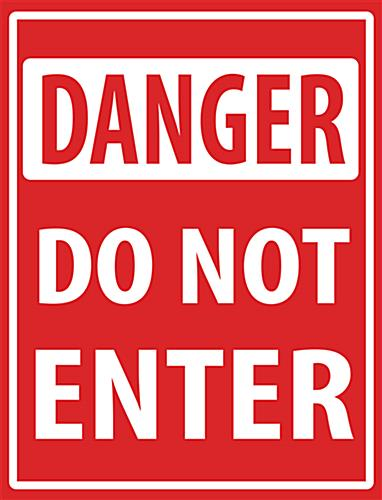 "18"" x 24"" danger floor decal do not enter safety sign"