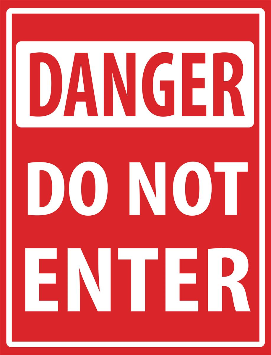 DO NOT ENTER IF DISPLAYING SYMPTOMS OF CD-19Adhesive Vinyl Sign Decal STOP