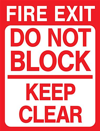 "18"" x 24"" non-slip exit safety floor decal"