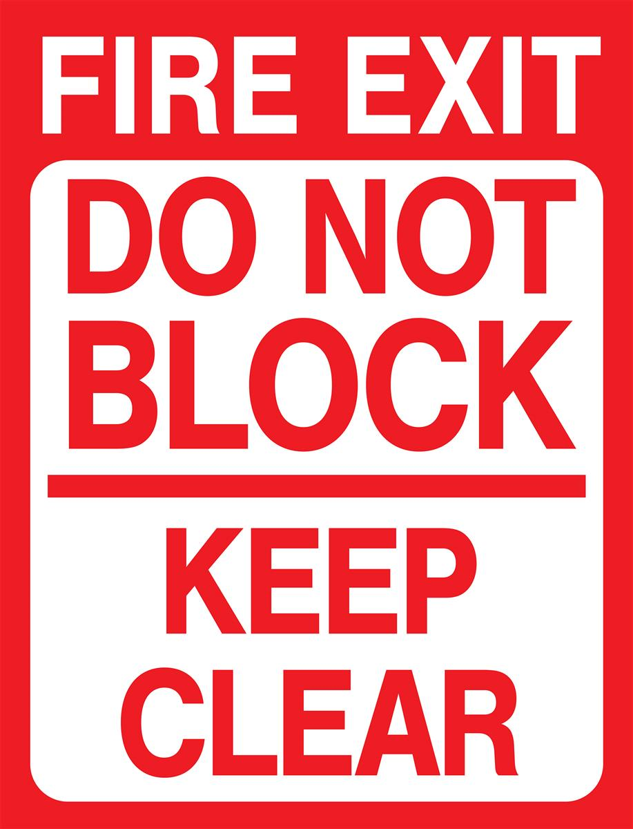Non Slip Fire Exit Safety Floor Decal 18 X 24