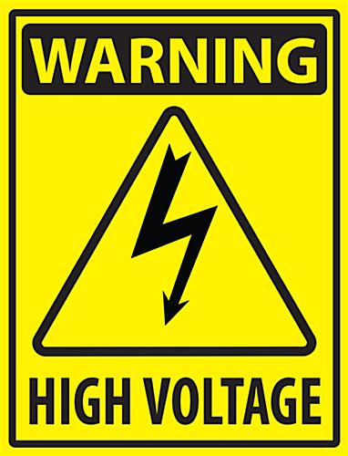 Electrical Hazard Industrial Warning Sticker 18 X 24 Vinyl