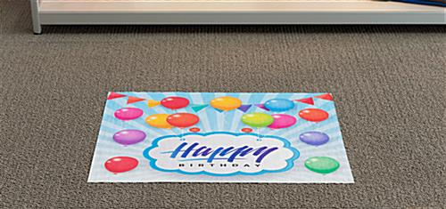 Trade show rectangular decal flooring sticker for multiple substrates