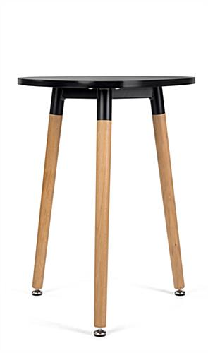 Low triangular side table with beechwood legs