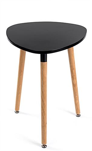 Black low triangular side table