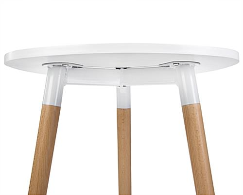 Low modern triangle accent table with matching hardware
